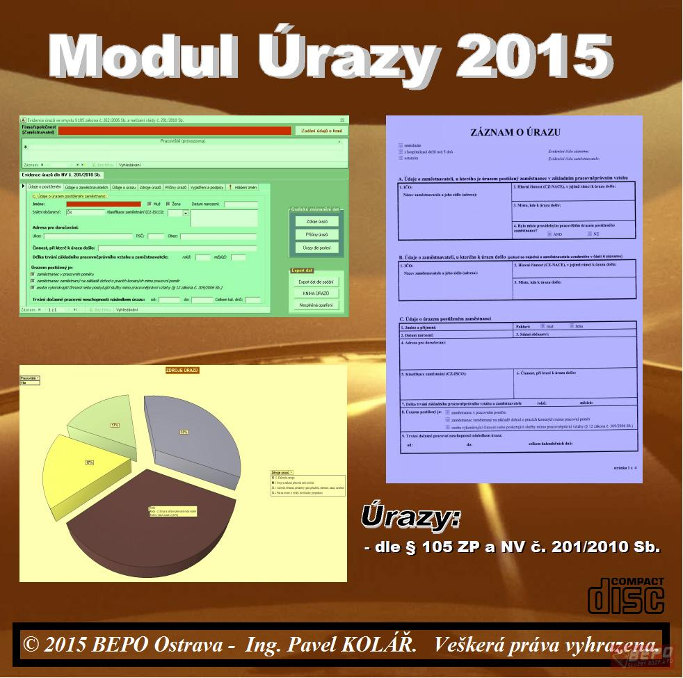 Software BOZP: MODUL Úrazy 2015 Upgrade