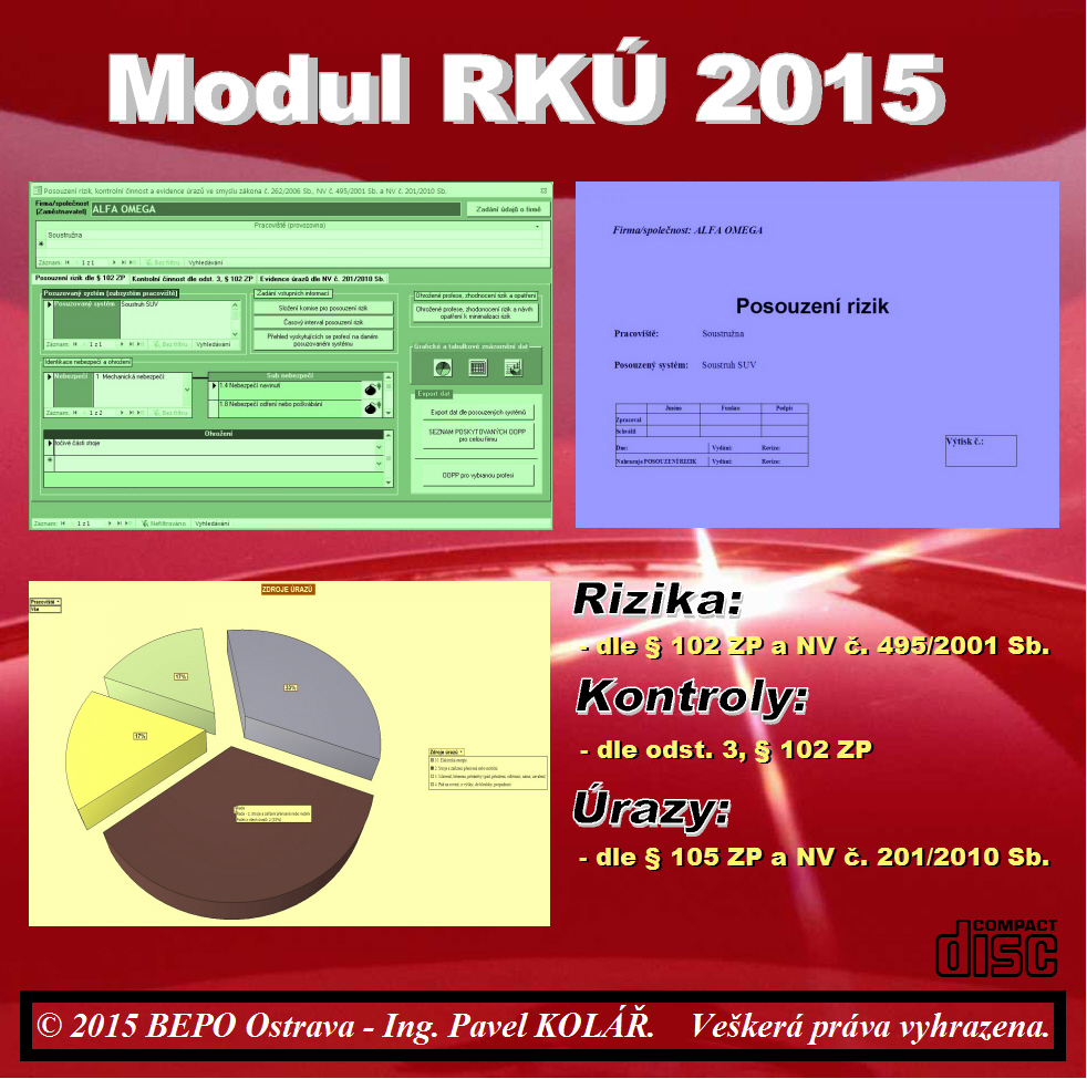 Software BOZP: MODUL RKÚ 2015 OV